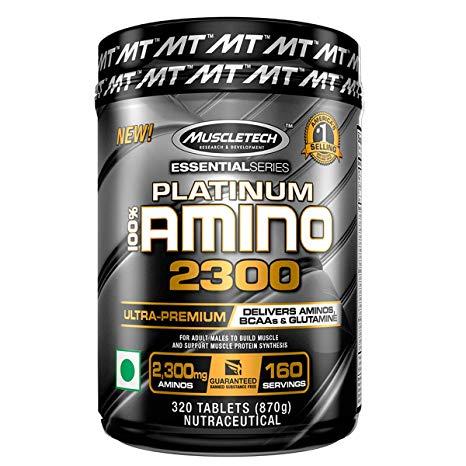 4 - protéine Tunisie - PLATINUM 100% AMINO 2300 320 TABLETS- MUSCLETECH
