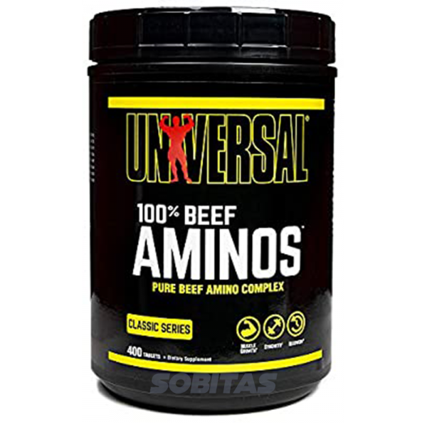 400caps - protéine Tunisie - 100% BEEF AMINOS 400 tabs –UNIVERSAL NUTRITION