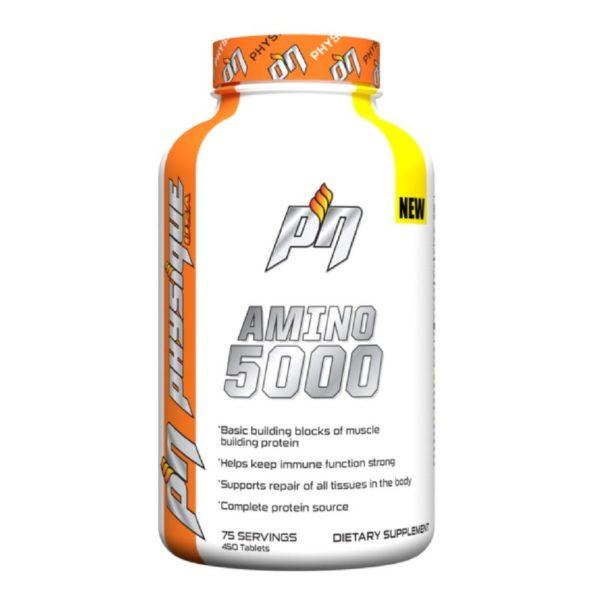 amino5000caps 600x600 1 - protéine Tunisie - AMINO 5000 450 caps -PHYSIQUE NUTRITION