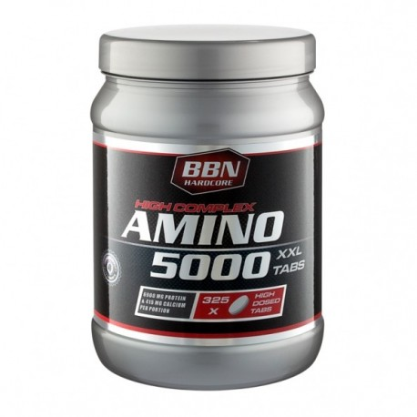 AMINO 5000 – 325 TABS – BBN HARDCORE - protéine Tunisie - AMINO 5000 325 tabs –BBN HARDCORE