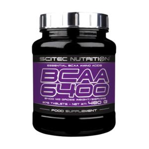 BCAA 6400 – 375 CAPS – SCITEC NUTRITION - protéine Tunisie - BCAA 6400  375 caps –SCITEC NUTRITION
