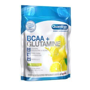 BCAA GLUTAMINE – 500G - protéine Tunisie - BCAA + GLUTAMINE 500 g -QUAMTRAX