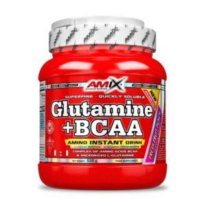 GLUTAMINE BCAA 530 G Amix Nutrition - protéine Tunisie - GLUTAMINE + BCAA 530 g -AMIX NUTRITION