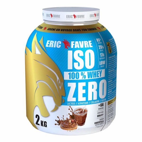 ISO 100 WHEY ZERO – 2KG – ERIC FAVRE - protéine Tunisie - ISO 100% WHEY ZERO 2 kg –ERIC FAVRE