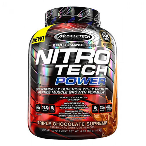 NITRO TECH POWER 1.8 KG MUSCLETECH - protéine Tunisie - NITRO TECH POWER 1.8 kg -MUSCLETECH