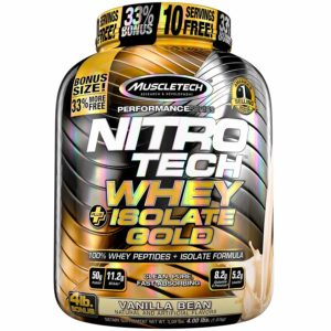 NITRO TECH WHEY ISOLATE GOLD – 1.81 KG MUSCLETECH - protéine Tunisie - NITRO TECH WHEY + ISOLATE GOLD 1.81 kg -MUSCLETECH