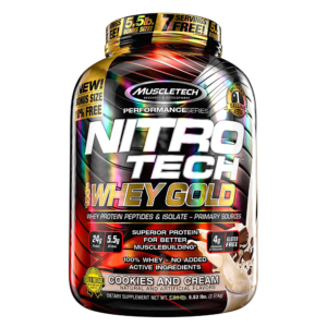 NitroTech Whey Gold Whey Gold 251 KG – MUSCLETECH - protéine Tunisie - NitroTech Whey Gold Whey Gold 2,51 kg –MUSCLETECH