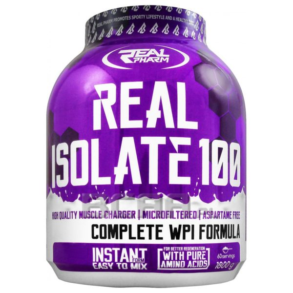 REAL PHARM - protéine Tunisie - REAL ISOLATE 100 1.8KG -REAL PHARM