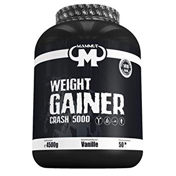 WEIGHT GAINER CRASH 5000 45 KG – MAMMUT - protéine Tunisie - WEIGHT GAINER CRASH 5000 4,5 kg –MAMMUT